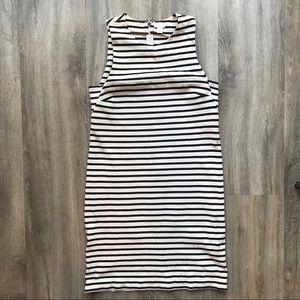 Fossil Linen Striped Dress